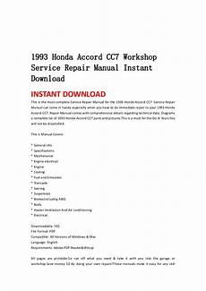 how to download repair manuals 1993 honda accord windshield wipe control 1993 honda accord cc7 workshop service repair manual instant download