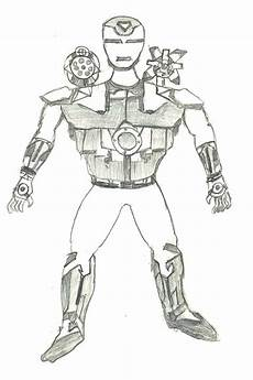 Ironman Malvorlagen Pdf Ironman War Machine Drawing By Kartikeya Mishra