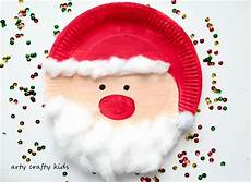 paper plate santa arty crafty