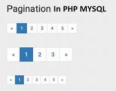 pagination in php mysql w3school