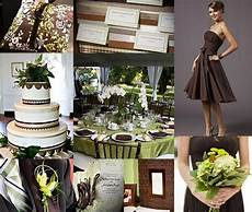chocolate brown and green wedding two colors i