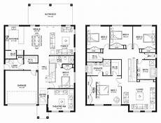 5 bedroom double storey house plans beautiful four bedroom double storey house plan new home