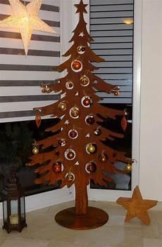 weihnachtsbaum metall bilder rost deko