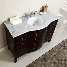 Bathroom Sink Cabinets Marble by 48 Quot Single Sink White Marble Top Bathroom Vanity Cabinet