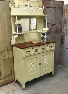 Vintage Sideboard Green Shabby Chic Buffet By Vintagehipdecor
