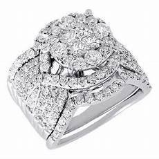 diamond engagement wedding ring white gold 3 piece bridal 2 75 tcw ebay