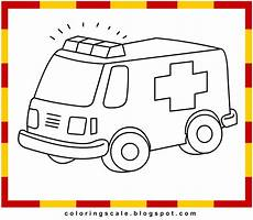 coloring pages printable for ambulance coloring
