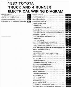 1987 Toyota Truck 4runner Wiring Diagram Manual Original
