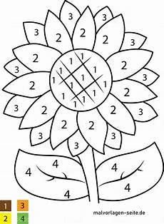 Malvorlage Nach Zahlen Malen Nach Zahlen Blume Kostenlose Ausmalbilder