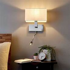 wall light tamara with fabric shade led flex arm lights co uk