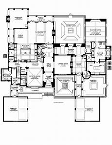 spanish revival house plans with courtyards home plans homepw76415 7 363 square feet 5 bedroom 5