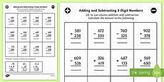 vertical addition and subtraction worksheet lks2 maths