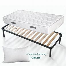 materasso e rete kit rete materasso alto 20 cm e cuscini memory in omaggio