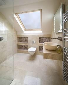 Attic Ensuite Bathroom Ideas by Loft Wetroom With Shelves Ensuite Bathroom In 2019