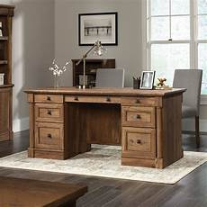 sauder home office furniture sauder palladia 65 12 in rectangular executive desk with