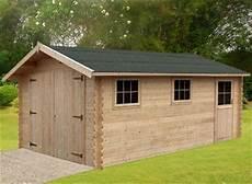 garage bois en kit garage en bois 34 mm moins 20 m2 kit en madrier promo