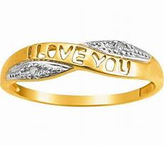 buy 9ct gold diamond i love you crossover ring at argos