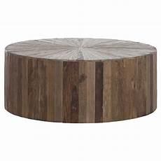 Circular Wood Coffee Table cyrano reclaimed wood solid drum modern eco coffee