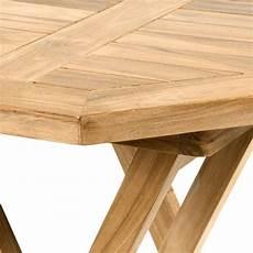 Divero Balkontisch Gartentisch Tisch Holz Teak Behandelt