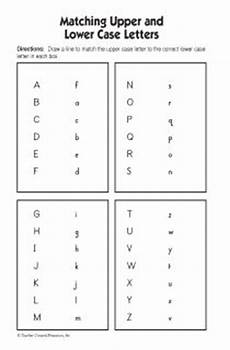 letter matching printable worksheets 24293 match lowercase alphabet matching and lower letters students will