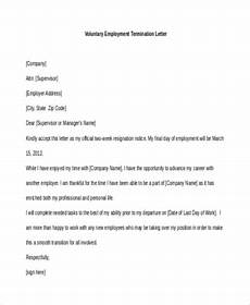 free 8 employment termination sle letters in word pdf