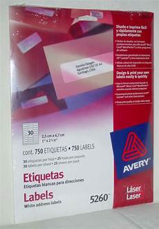 avery 5260 750 white address laser labels 1x2 5 8 quot new with fast free shipping ebay
