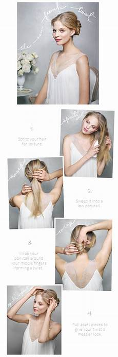 the new twist wedding hairstyles tutorial once wed