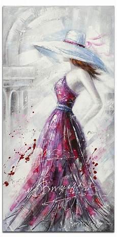 modele de tableau moderne femme tableau figuratif vertical acrylique 50x100 en