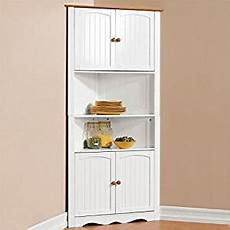 com brylanehome country kitchen corner cabinet white honey kitchen dining