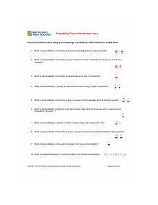 probability worksheets cards 5723 sheeta answers probability theory worksheet 1 key solve the problems below using your