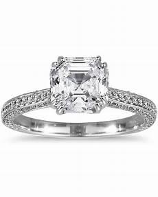 asscher wedding rings asscher cut diamond engagement rings martha stewart weddings