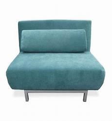 Fauteuil Convertible Design 1 Place Archie Drawer En Bleu