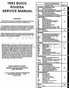 online car repair manuals free 1990 buick riviera engine control 1992 buick riviera original repair shop manual 92 original oem service book ebay