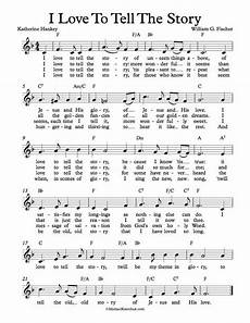 free lead sheet i love to tell the story by katherine