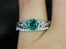 47 scottish wedding rings sets his hers wedding band in 14k gold celtic emerald wedding ring
