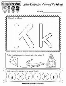 free printable letter k coloring worksheet for kindergarten