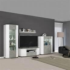 wohnwand betonoptik kaufen bradford 2 wohnwand anbau wohnzimmer 4 teilig hochglanz