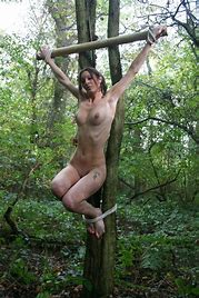 Bdsm crucified woman