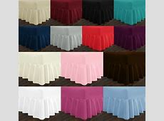 EXTRA DEEP 10 INCH   16 INCH FRILLED VALANCE FITTED SHEET