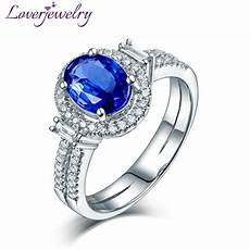 oval 8x10mm 14kt white gold diamond blue tanzanite ring
