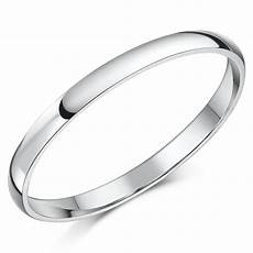 14ct white gold quot d shaped quot wedding ring 14ct white gold