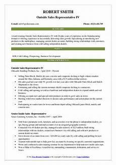 outside sales representative resume sles qwikresume