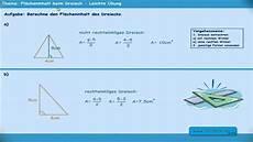 fl 228 cheninhalt beim dreieck berechnen leichte 220 bung