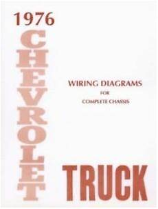 1976 truck wiring diagram booklet st 352 76 chevrolet 1976 truck wiring diagram 76 chevy pick up ebay