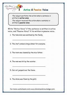 grammar worksheets active and passive voice 24694 grade 3 grammar topic 3 active passive voice worksheets lets knowledge