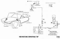 Dash Wiring Diagram For 1968 Mustang by 67 Convertible Top Wire Route And Vintage Mustang