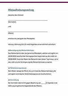 Mietaufhebungsvertrag Die Alternative Zur K 252 Ndigung