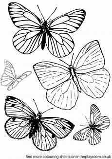 free printable butterfly colouring pages in the playroom