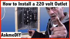 220 volt air conditioner wiring diagram how to install a 220 volt outlet
