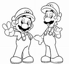 print and coloring page mario and luigi for